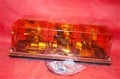 Federal Signal Highlighter Mini Amber Light Bar Excellent Working Condition 12V
